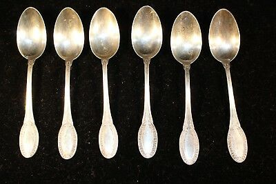 Six Vintage Demitasse Spoons Marked 800 Silver