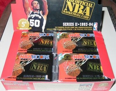 1993/94 Hoops by Skybox NBA Basketball 4-Pack Series 2 Lot - Brand New from Box