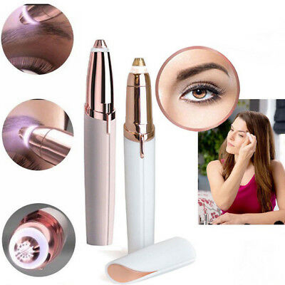 Fashion Painless Touch Hair Remover for Women Facial Brows Eyebrow LED Light Pen