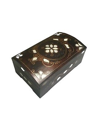 Extra Large Handmade Decorative Wooden Inlaid Box | Vintage Wood Jewelry Box
