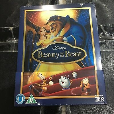 Beauty and the Beast 3D + 2D Blu-ray Steelbook | Zavvi Disney | NEW SEALED