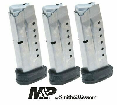 3 x Smith & Wesson M&P Shield 9mm 8 Round Magazine 19936 Factory OEM S&W 8rd