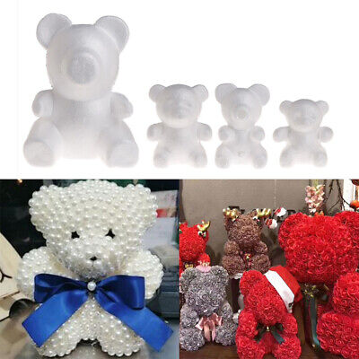 White Polystyrene Styrofoam Foam Bear Modelling DIY Valentine Gifts Party Decor/&