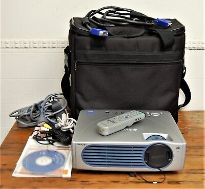 Sony Data Projector VPL-CX11 with Bag, Cables & Manuals. #2