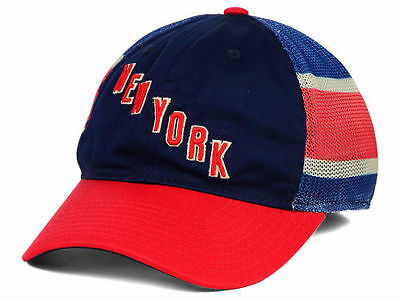 New York Rangers Reebok NHL Jersey Hook Mesh Flex-Fit Cap Hat - Size  26e3810e6