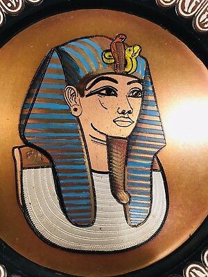 Copper Hand Made Paint Plate Vintage Egyptian