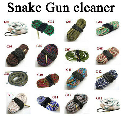 Gun Bore Snake String Cleaner Cleaning Calibre Borebrush Hunting Acces Kit