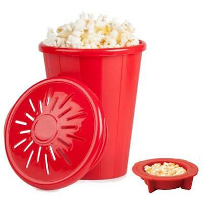 Silicone Microwave Oven Popcorn Maker DIY Bucket Container Kitchen Baking Tool