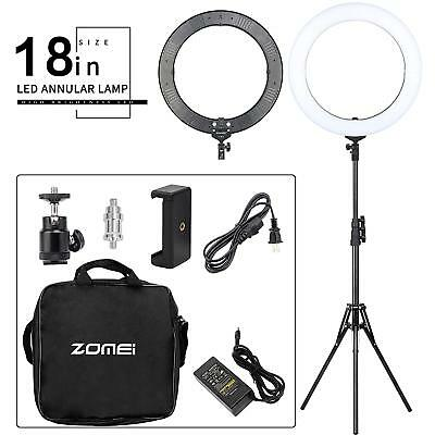 18inch Double Way ZOMEI Dimmable LED Ring Light + 50CM Foldable Tripod Stand OY