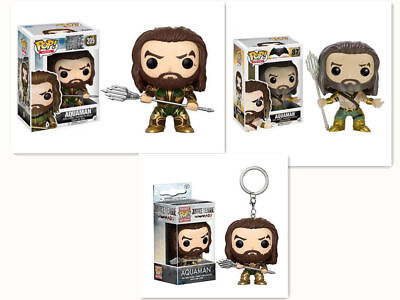 New Funko Pop! DC Universe Aquaman Arthur Curry Vinyl Figure Ring Keychain