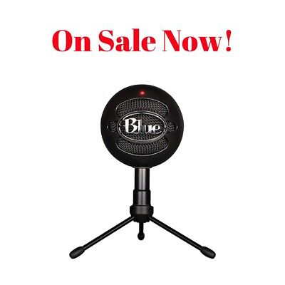 Microphone Condenser - Black - Snowball Ice - Blue Microphones USB Record Vocals