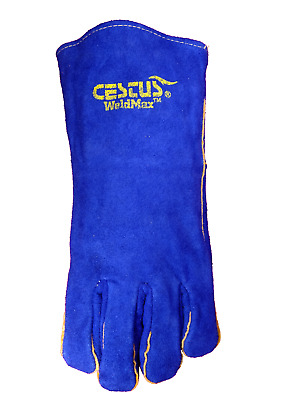 Cestus WeldMax Blue Leather Welding Gloves mig stick M,L,XL,2XL