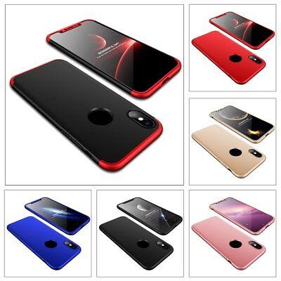Slim Hybrid Shockproof Hard Case Ultra-thin Cover with LOGO Hole for iPhone MB##