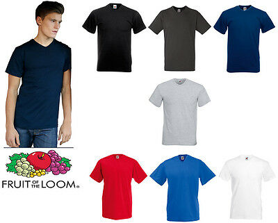 Fruit Of The Loom Valueweight T-Shirt Col V Toutes les Tailles Basique