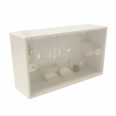 Surface Mounted 41mm Deep Back Box Double Pattress for 2 Gang Cooker Switches