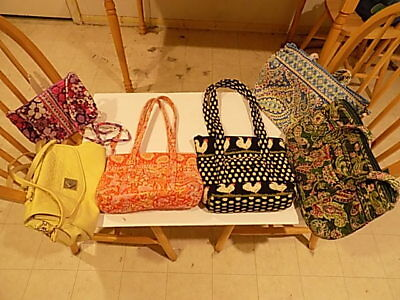 Vera Bradley Lot Preowned Bags + 1 Nicole Miller Preowned Bag Included!