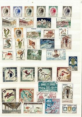 MONACO ANNEE COMPLETE 1960 NEUF ** LUXE  38 timbres +pa 86 cadeau