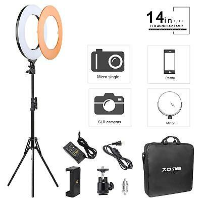 "ZOMEI 14"" Ring Light LED Dimmable Makeup Lighting 5500K Folding Tripod Stand Set"
