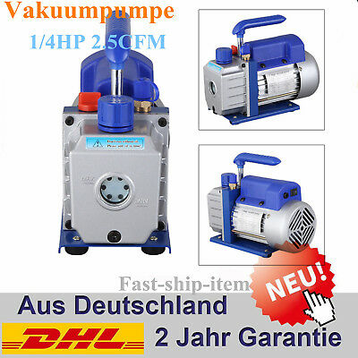 Pump Vane Vacuum Deep Rotary Single Stage 2.5CFM 1/4HP HVAC Tool Air Conditionin