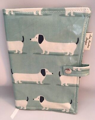 A5 Diary Cover,Nurses Diary Cover,Week To View Cover,Duckegg dachshund A5 cover