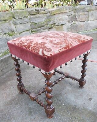 Stool end of foot Louis XIII 20th chair armchair