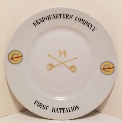"""RARE Post WWII Army Constabulary 7.5"""" Bauscher Weiden Germany US Zone HQ Plate"""