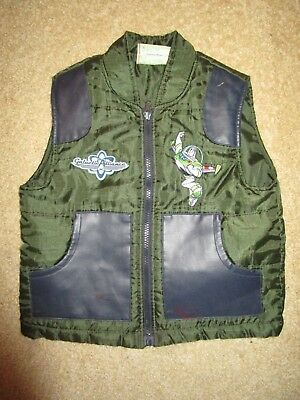 Boys dark green Toy Story Buzz Lightyear padded vest  Size 4