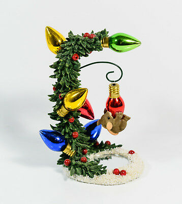Charming Tails You Warm My Heart Ornament & Stand Christmas Mouse Fitz & Floyd *