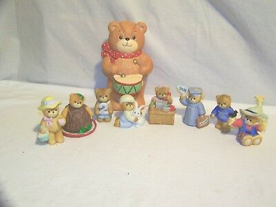 Lucy and Me 8 Figurine Lot and Drummer Bank with Stopper Fall more