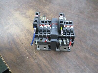 ABB Reversing Contactor A9-30-01 120V Coil 21A 600V w/ (2) Aux Contact Used
