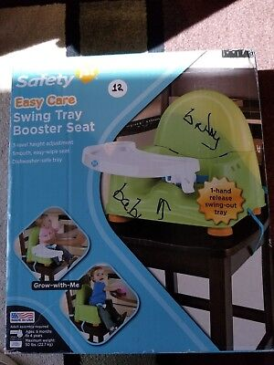 Safety 1st Easy Care Swing Tray Child Booster Seat - Green Toddler Baby 6m-4 yr