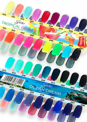"SEMILAC Soak Off Gel/Hybrid Nail Polish - ""TROPICAL DRINKS"" Collection"