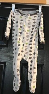 Bestaroo modal infant sleeper with mitties 0-3m green dots SOFT