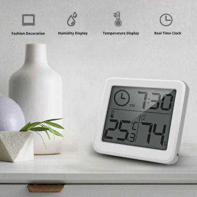 Thermometer Hygrometer ElectronicTemperature and Humidity Monitor Clock YH
