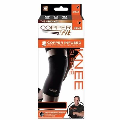 Copper Fit Knee Sleeve Compression Garments - M - 2 Pack - NEW