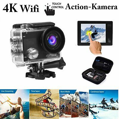 Action kamera WiFi Ultra HD 4K Helmkamera Touchscreen  as Gopro Wasserdicht 40M