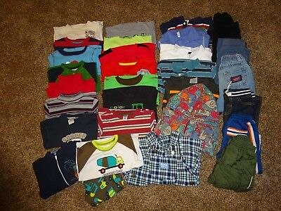 Huge 30 Piece Lot TODDLER 2T BOYS CLOTHES Fall/Winter Outfits! Great Brand Names