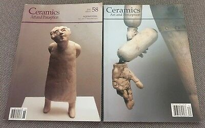 Ceramics : Art And Perception LOT OF 2 #58 2004 & #74 2008 ISSUES  Book Magazine