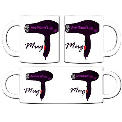 PERSONALISED HAIRDRESSER HAIRDRYER PRINT 11oz CERAMIC MUG CHRISTMAS BIRTHDAY