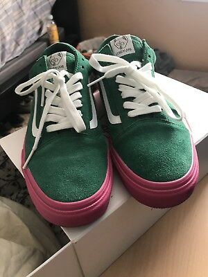 43f7f70b14e9 VANS X Golf Wang Syndicate Old Skool Green Pink Size 11 supreme odd future