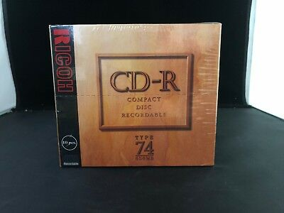 Ricoh CD-R Compact Disc Recordable Type 74 650mb 10pcs ! FREE SHIPPING
