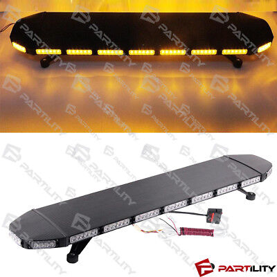 46 inch Amber Emergency Warn Hazard Security Strobe LED Light Bar Roof Tow Const