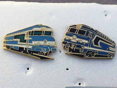 Lot De 2 Pin's Machines/trains/sncf