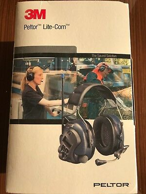3M Peltor Lite Com Basic Headband MT53H7A4400 Navy Blue Headset Ear Muffs New