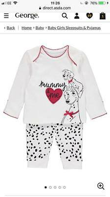 DISNEY GIRLS 101 DALMATIONS PYJAMAS NIGHTWEAR BNWT ALL AGES BABY PJS GEORGE