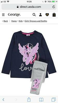 George Girls My Little Pony Top And Legging Set Bnwt All Ages