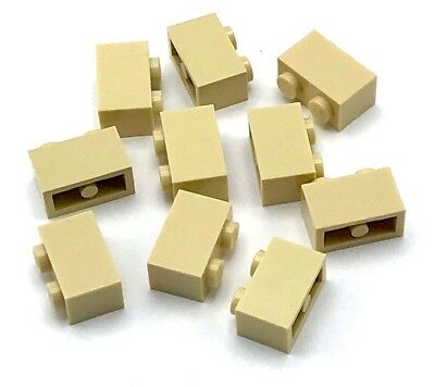 LEGO LOT OF 50 NEW TAN 1 X 2 X 5 PILLARS BUILDING BLOCKS PIECES