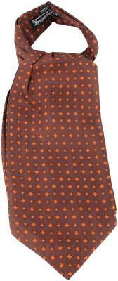 Knightsbridge Neckwear Diamonds Silk Cravat - Brown/Orange