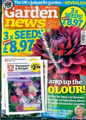 GARDEN NEWS MAGAZINE ISSUE 25th August 2018 WITH 3 x PACKS OF SEEDS ~ NEW ~