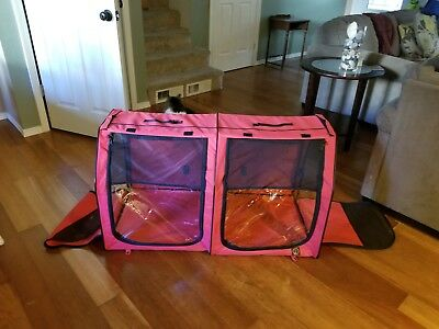 Portable Fabric Kenbel And Cat Show House